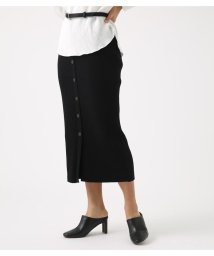 AZUL by moussy/BUTTON RIB KNIT SKIRT/502002316