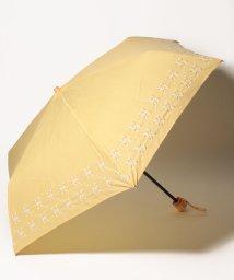 Afternoon Tea LIVING/幾何学フラワー刺繍晴雨兼用折りたたみ傘 日傘/502011460