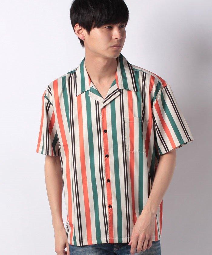 総柄ビッグシルエットオープンカラー半袖開襟シャツ