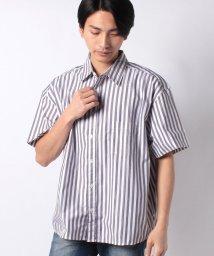 STYLEBLOCK/ビッグシルエット半袖ストライプシャツ/502016409