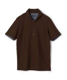CROWDED CLOSET/《SWEAT DRAY》ポロシャツ/ヘリンボンジャガード/502017511