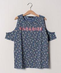 SISLEY YOUNG/オープンショルダーフラワー半袖Tシャツ・カットソー/502023397