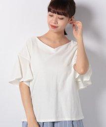 Bou Jeloud/◆デイリー使いにおすすめ◆袖フリルツイルTシャツ/502029982