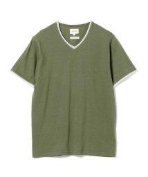 BEAMS OUTLET/BEAMS / ダブル カラー カットオフ Vネック Tシャツ/501978780