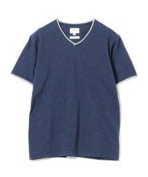 BEAMS MEN/BEAMS / ダブル カラー カットオフ Vネック Tシャツ/501978780