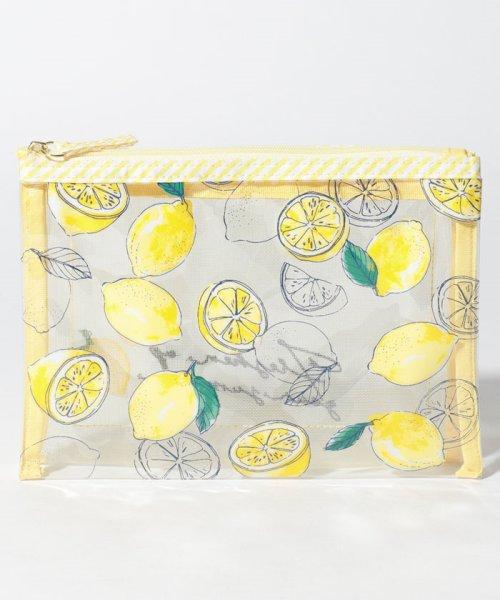 Afternoon Tea LIVING(アフタヌーンティー・リビング)/レモン柄メッシュダブルポーチ/GB8619203883