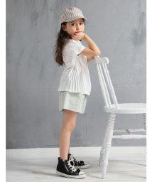 b-ROOM/サイドプリーツTシャツ/502029546