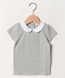 b-ROOM/丸衿つきパフTシャツ/502029547