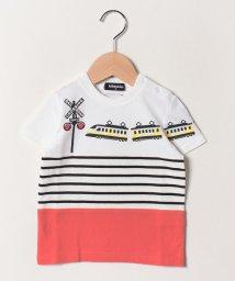 kladskap/電車プリント切り替えTシャツ/502029551