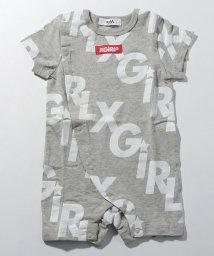 X-girl Stages/ロゴソウガラカバーオール/502029592
