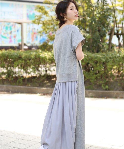 Bou Jeloud(ブージュルード)/バックスタイルが可愛い!◆スウェット後ろプリーツ半袖ワンピース/692996