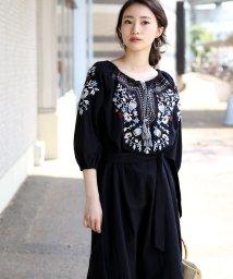 Bou Jeloud/刺繍使いが印象的◆刺繍スモッグワンピース/502041991