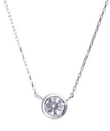 JEWELRY SELECTION/PT 天然ダイヤモンド 0.3ct フクリン プラチナネックレス 【鑑別書付】/502043611