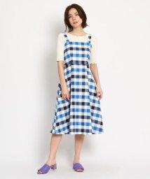 AG by aquagirl/【洗える】チェック柄バックリボンワンピース/502044862