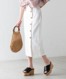 WEGO/【セットアップ対応商品】リネンブレンドボタンナロースカート/501554066
