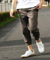 MARUKAWA/綿麻ストレッチ イージークロップドパンツ 裾リブ リネンパンツ/502019290
