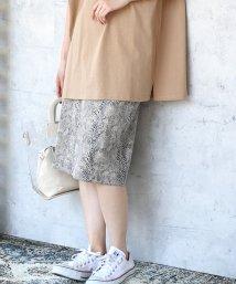 Bou Jeloud/◆大注目トレンドアイテム◆ストレッチパイソンタイトスカート/502026566