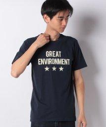 STYLEBLOCK/スター&ロゴプリントクルーネック半袖Tシャツ/502032890