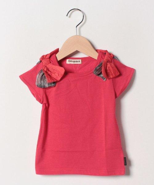 Gemeaux(ジェモー)/肩リボンTシャツ/GA8383