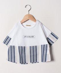 Gemeaux/ロゴプリント切替Tシャツ/502033037