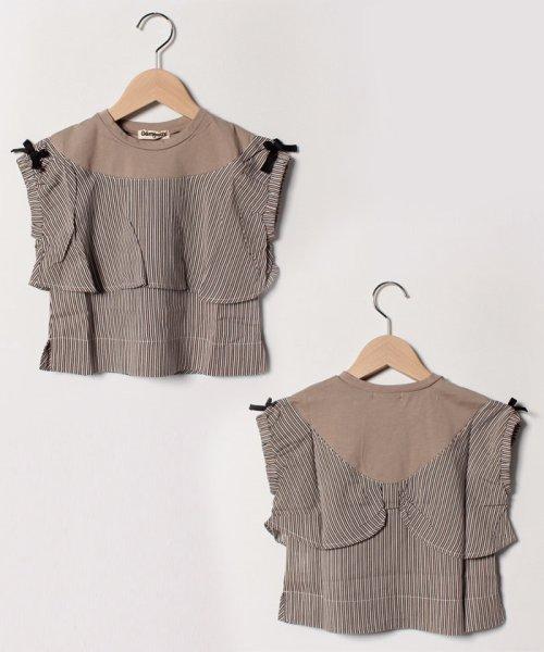 Gemeaux(ジェモー)/ヨークリボンTシャツ/GA8352