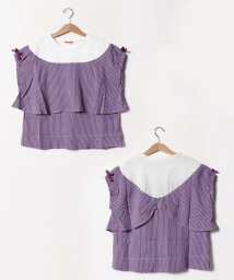 Gemeaux/ヨークリボンTシャツ/502033043