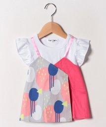 FORTYONE/幾何学キャミ付Tシャツ(2WAY)/502033081