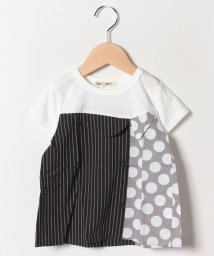FORTYONE/衿付き重ね着風Tシャツ/502033095