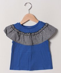 FORTYONE/ギンガムフリルTシャツ/502033097
