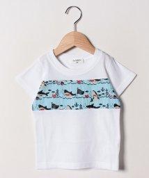 A-MACH/【セットアップ対応商品】異素材切替半袖Tシャツ/502033103