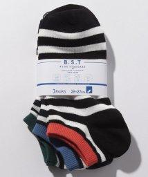 JNSJNM/【BLUE STANDARD】3Pアンクルソックス/502038845