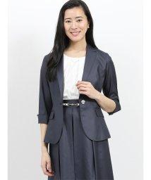m.f.editorial/ボンフォルト セットアップ1釦7分袖ジャケット 紺/502045007
