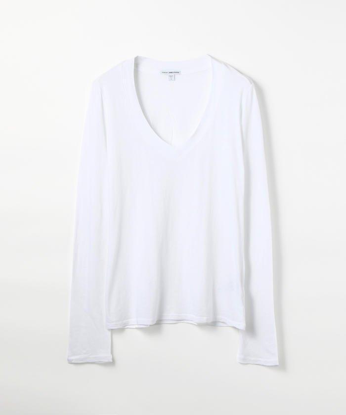 ベーシック Vネック長袖Tシャツ WMJ3931