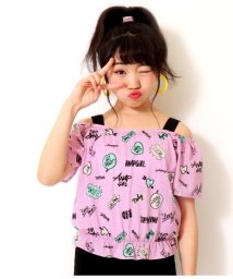 ANAP GiRL/総柄シャーリングトップス/502046305