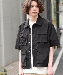 JUNRed/【ビッグシルエット】ダブルフラップポケットシャツ/502066015