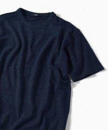 SHIPS MEN/SC: コットン/リネン アラン ジャガード Tシャツ/502066088