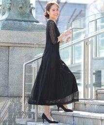 Primazel/レーススリーブ マキシ丈 ワンピース ドレス/502073493