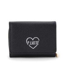 PINK-latte/ロゴ三つ折ミニ財布/501549005