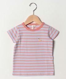 LAGOM/先染めボーダーバナナ刺繍Tシャツ/502039218
