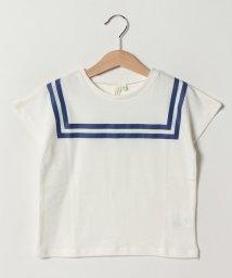 LAGOM/セーラーカラープリントTシャツ/502039219