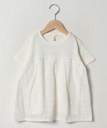 LAGOM/レース切替半袖Tシャツ/502039220