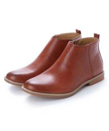 AAA PLUS/SFW サンエープラス AAA+ 軽くて履きやすくて歩きやすい!シンプルで合わせやすく履いた時のシルエットがきれいなショートブーツ/2356 (ブラウン)/502047821