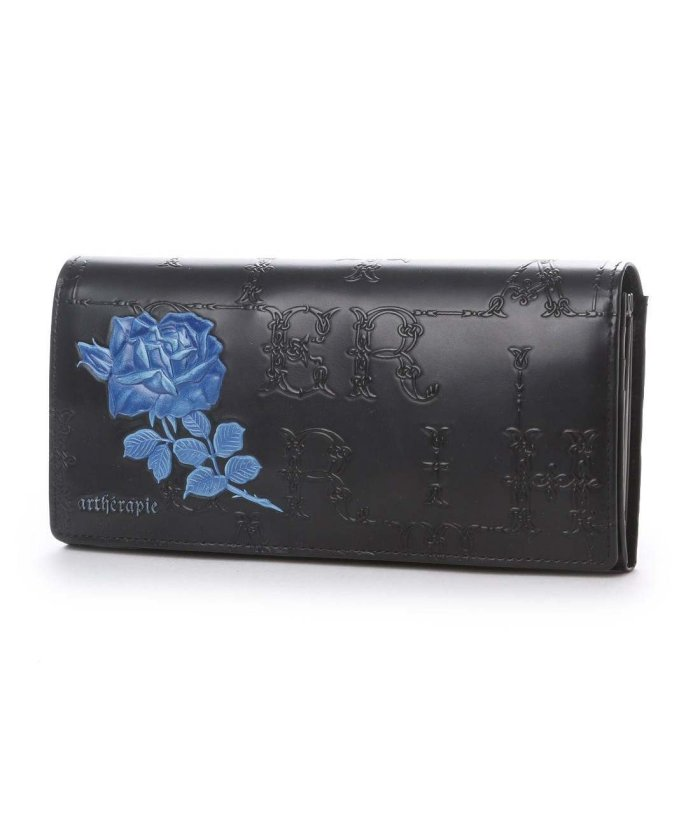 2ddbe638b62b artherapie(アルセラピィ)/アルセラピィ artherapie フィセルローズ かぶせがま口長財布 (ブルー)