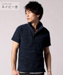 THE CASUAL/(バイヤーズセレクト) Buyer's Select スラブパイルイタリアン襟ワイヤー半袖ポロシャツ/502248230