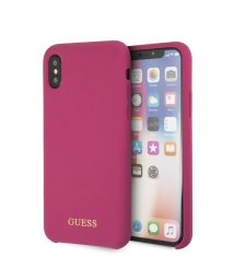 GUESS/ゲス GUESS GOLD LOGO SILICONE CASE for iPhone X (PINK) (PINK)/502248869