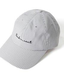 REAL STYLE/ロゴ刺繍ギンガムチェック柄キャップ/502249155