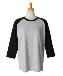 REAL STYLE/5.6オンスヘビーウェイトベースボールTシャツ/502249158