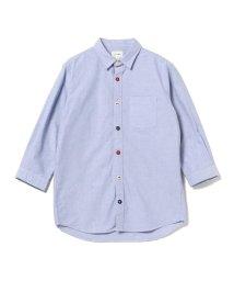 BEAMS MEN/BEAMS / トリコロール パラシュートボタン 7分袖 シャツ/501501333