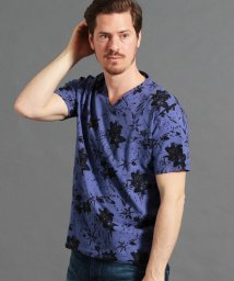 MONSIEUR NICOLE/ボタニカルプリント半袖Tシャツ/501899957