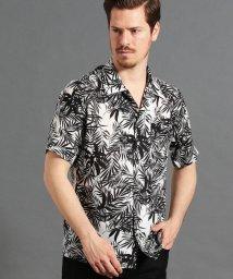 MONSIEUR NICOLE/ボタニカルプリントオープンカラーシャツ/502034207